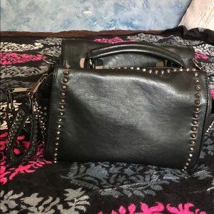 cute black studded purse